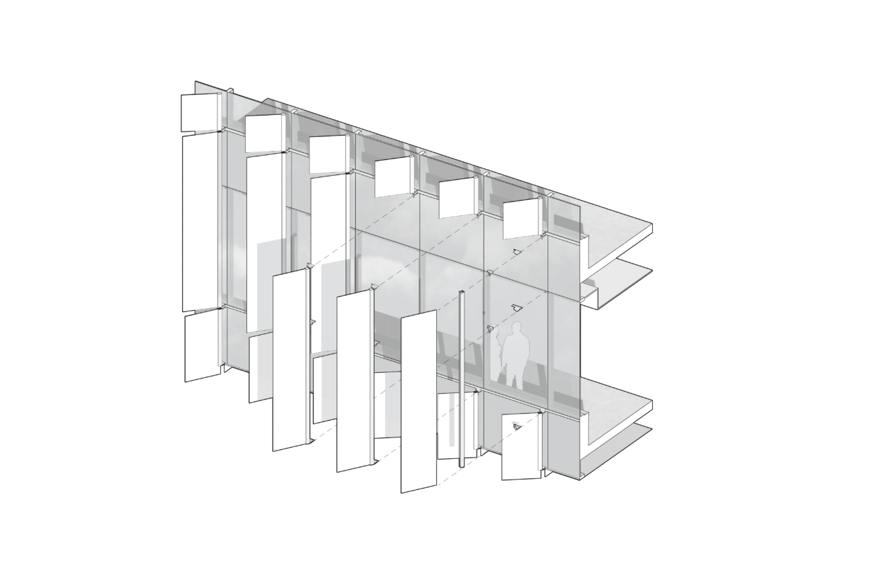 diagram of the glass fins