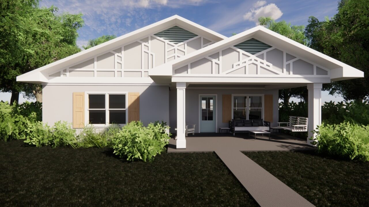 rendering of a single-level home