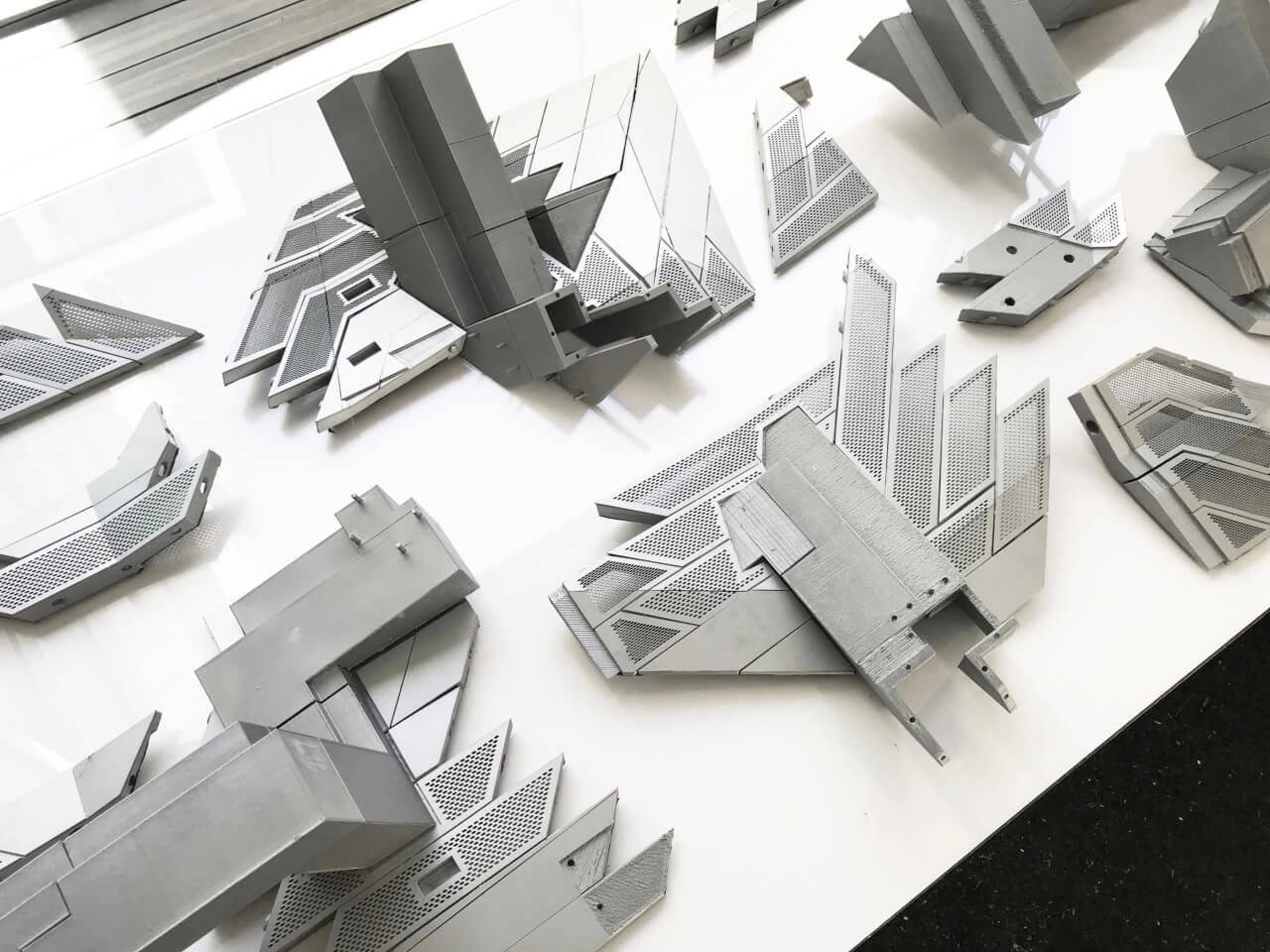 models of the various components that make up the structure