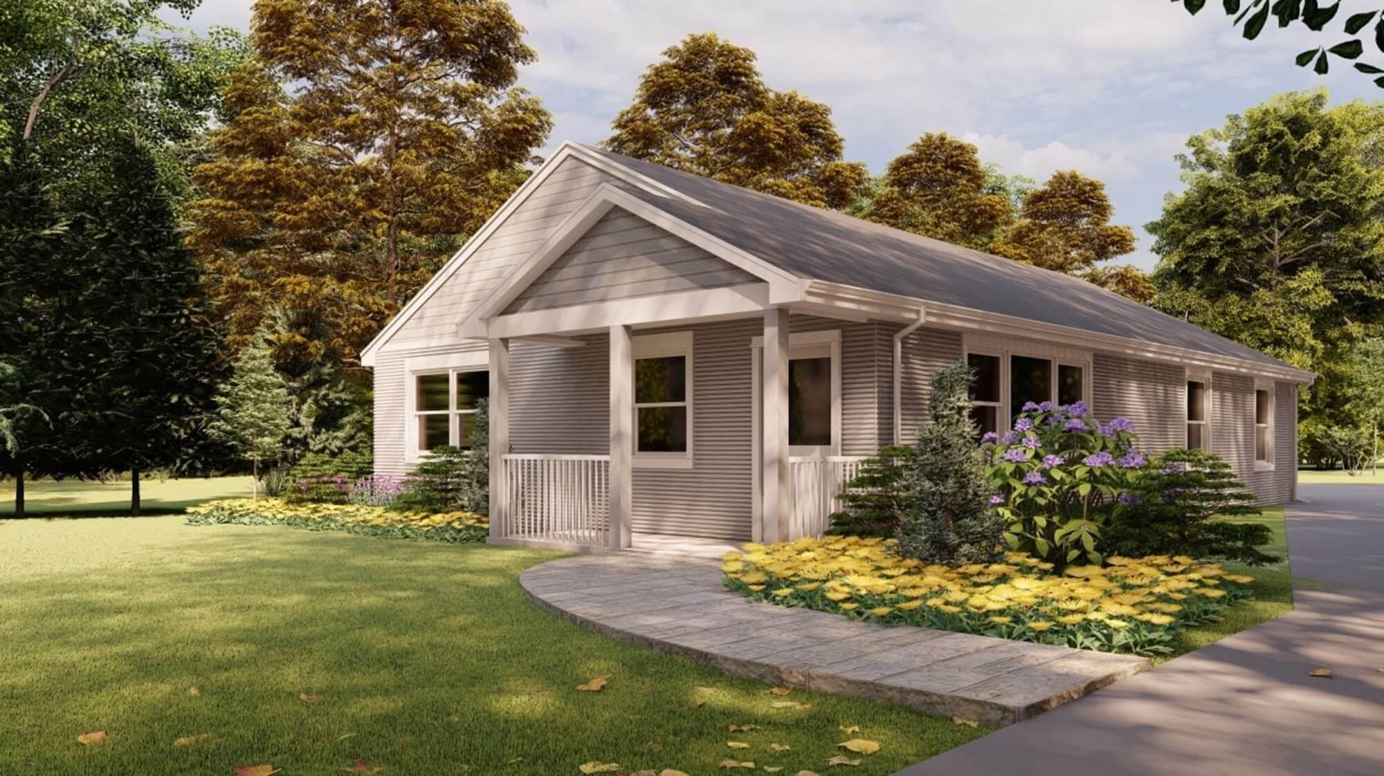 a modest suburban home