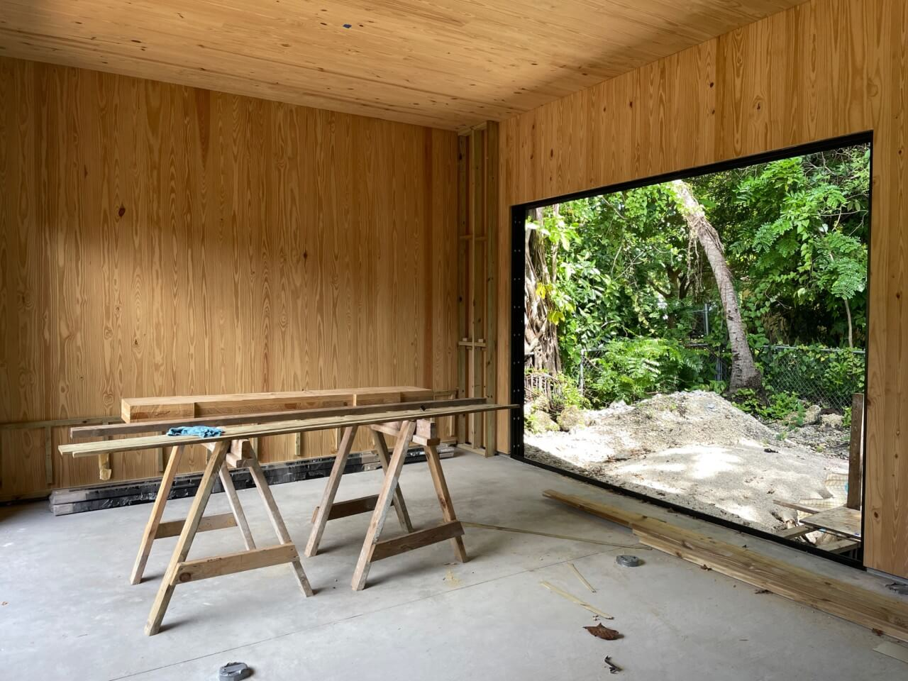 A CLT timber home under construction in miami
