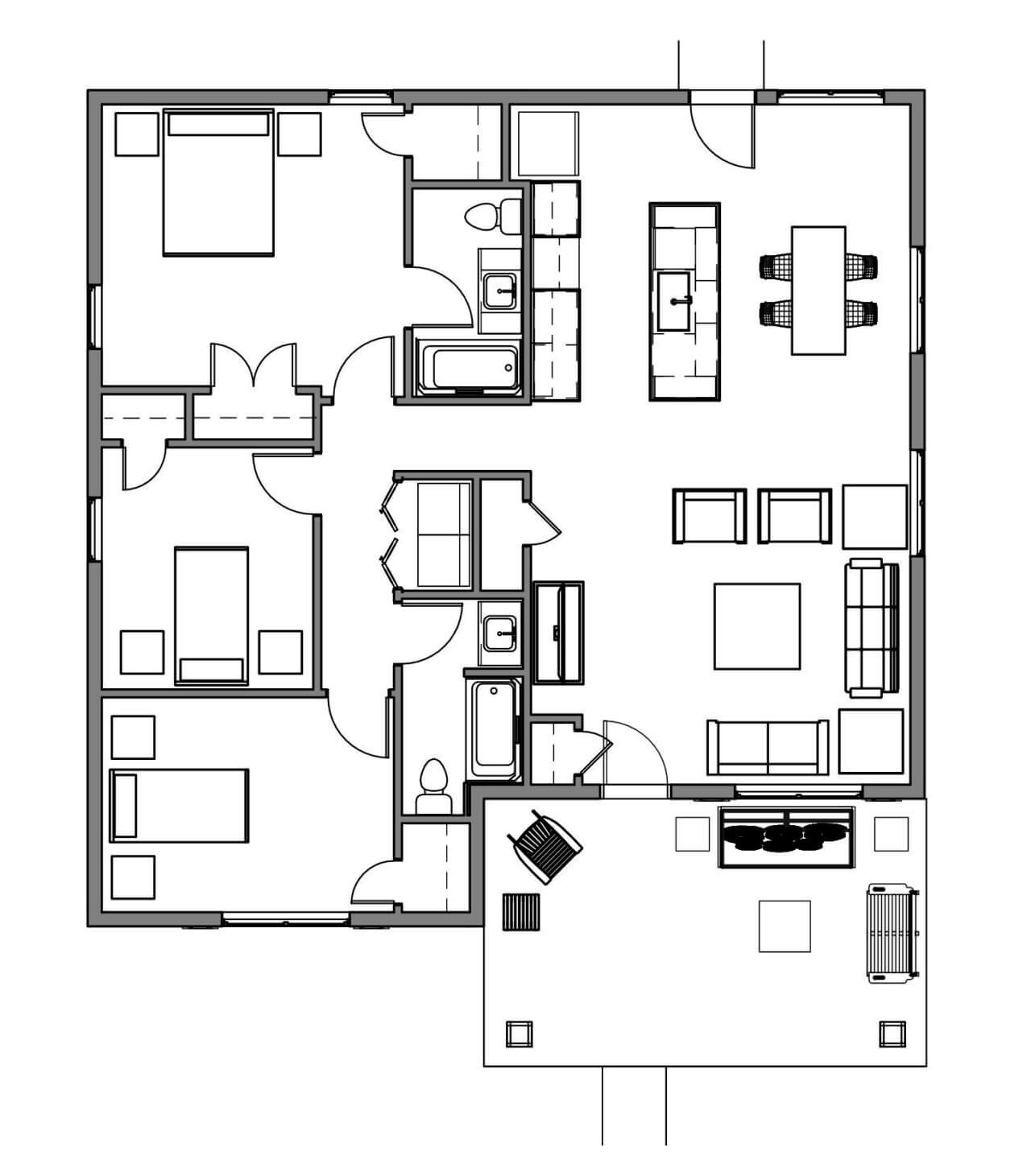 floor plan illustration of a home