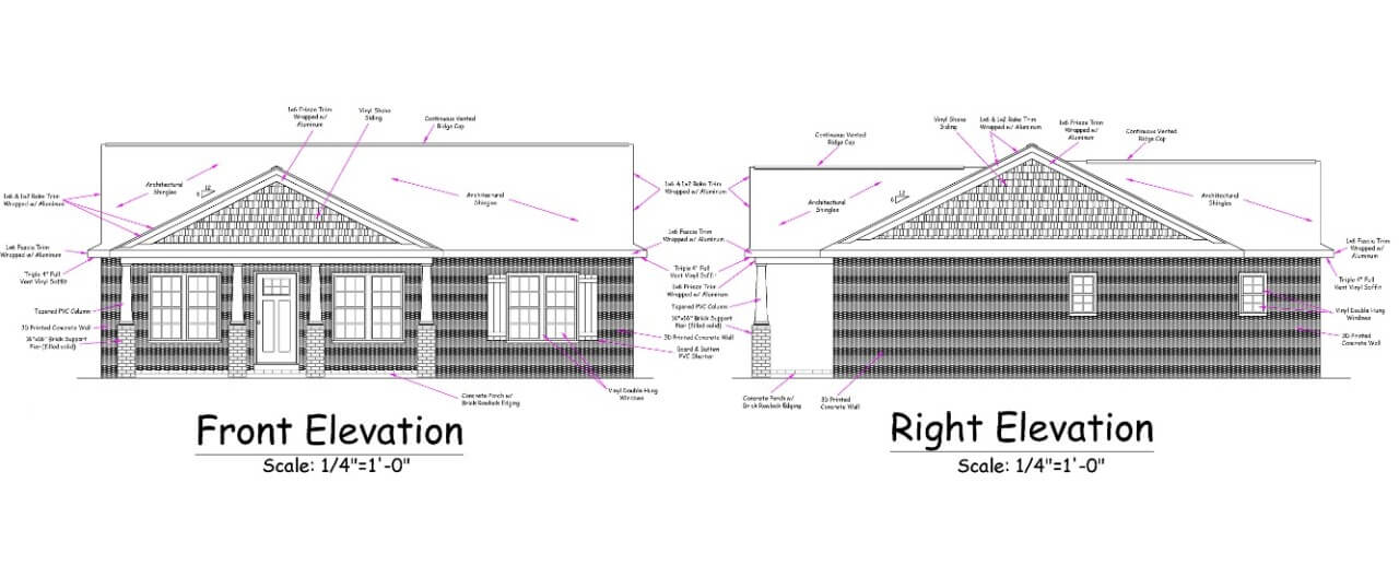 elevation drawling of a home