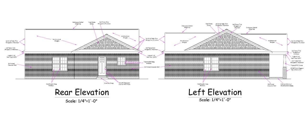 elevation drawing of a home